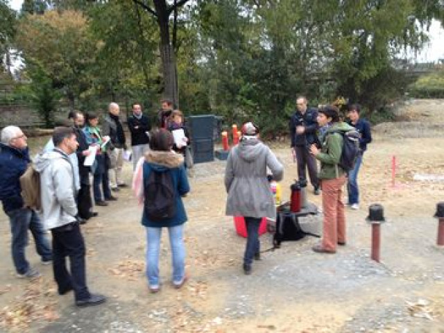 Rencontre sur le chantier des futurs jardins partagés de Jules Verne