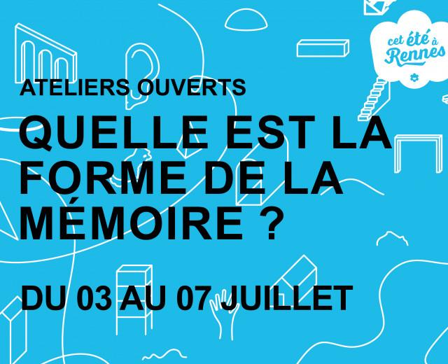 ATELIERS OUVERTS - PARCOURS MÉMORIEL